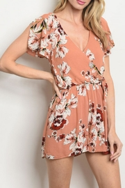 Everly Mauve Floral Romper - Product Mini Image