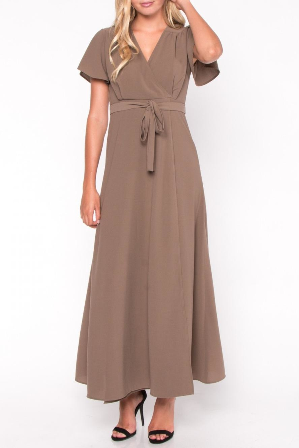 Everly Maxi Wrap Dress - Front Full Image