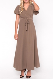Everly Maxi Wrap Dress - Front full body