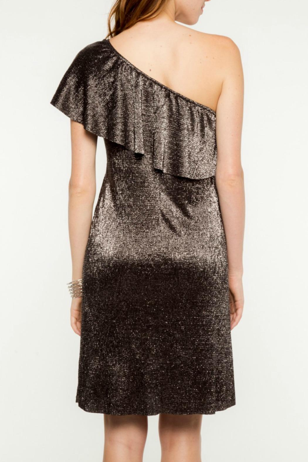 Everly Merry Metallic Dress - Side Cropped Image