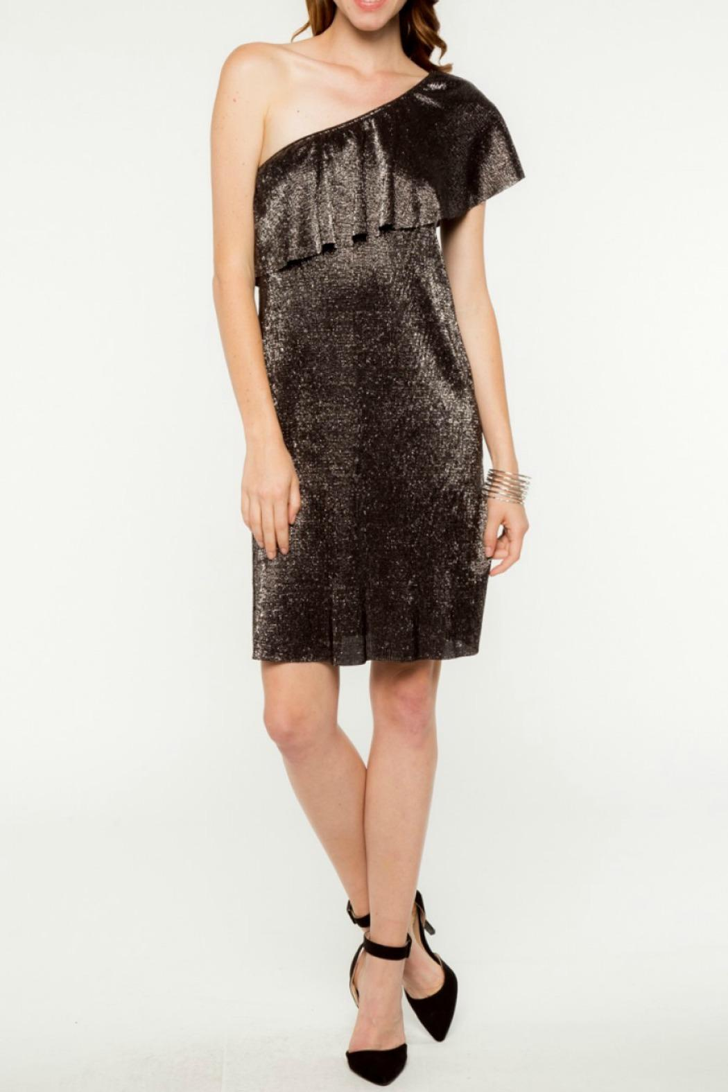 Everly Merry Metallic Dress - Front Full Image