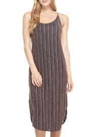Everly Metallic Slip Dress - Front cropped