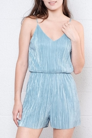 Everly Micro Pleated Romper - Front full body