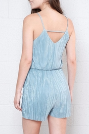 Everly Micro Pleated Romper - Back cropped