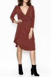Everly Midi Wrap Dress - Product Mini Image