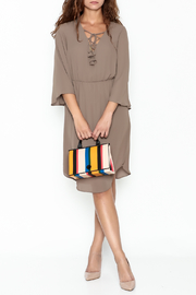 Everly Mocha Midi Dress - Product Mini Image