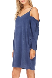 Everly Navy Cold Shoulder Dress - Front full body