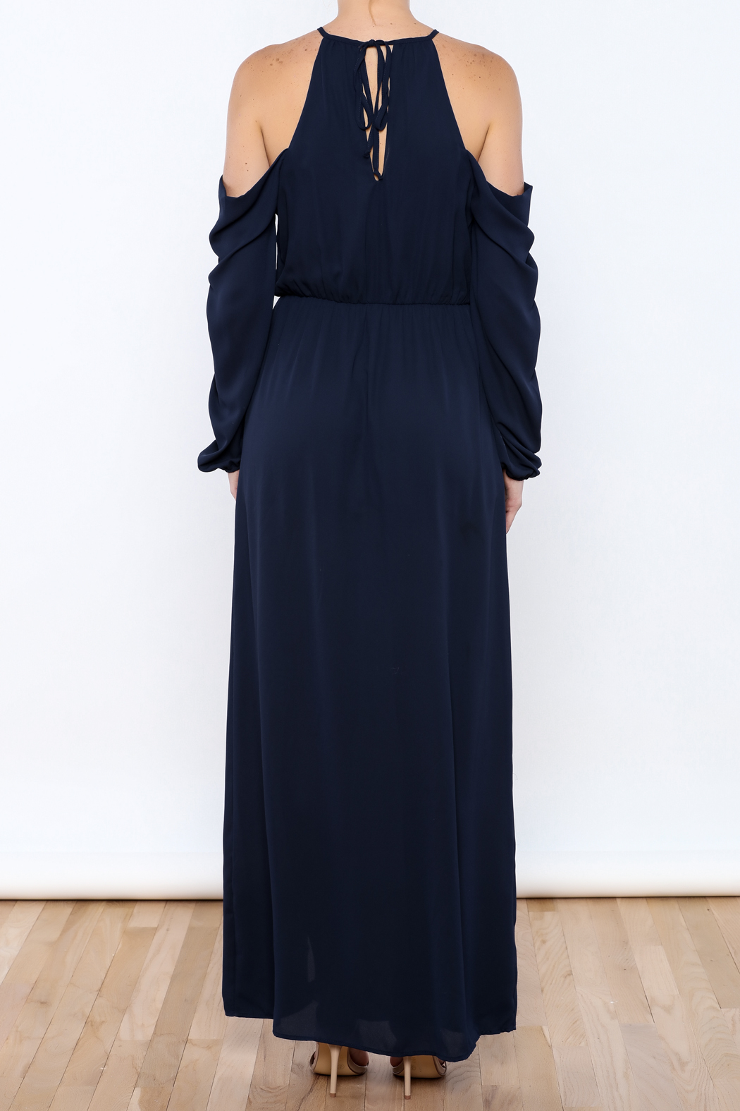 Everly Navy Girl Maxi - Back Cropped Image