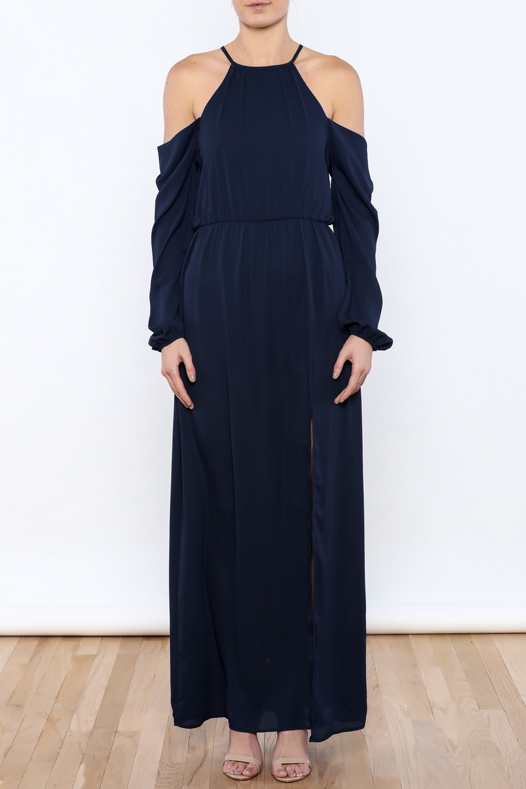 Everly Navy Girl Maxi - Front Cropped Image