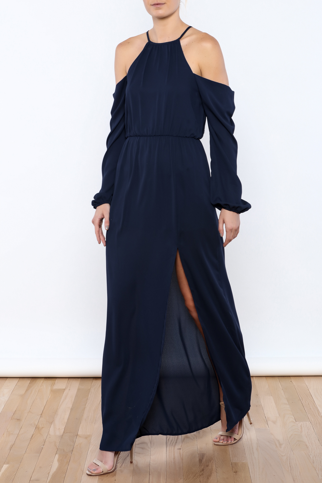 Everly Navy Girl Maxi - Front Full Image