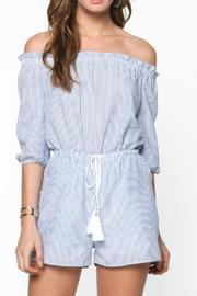 Everly Off Shoulder Romper - Product Mini Image
