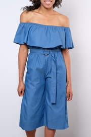 Everly Chambray Jumpsuit - Front full body