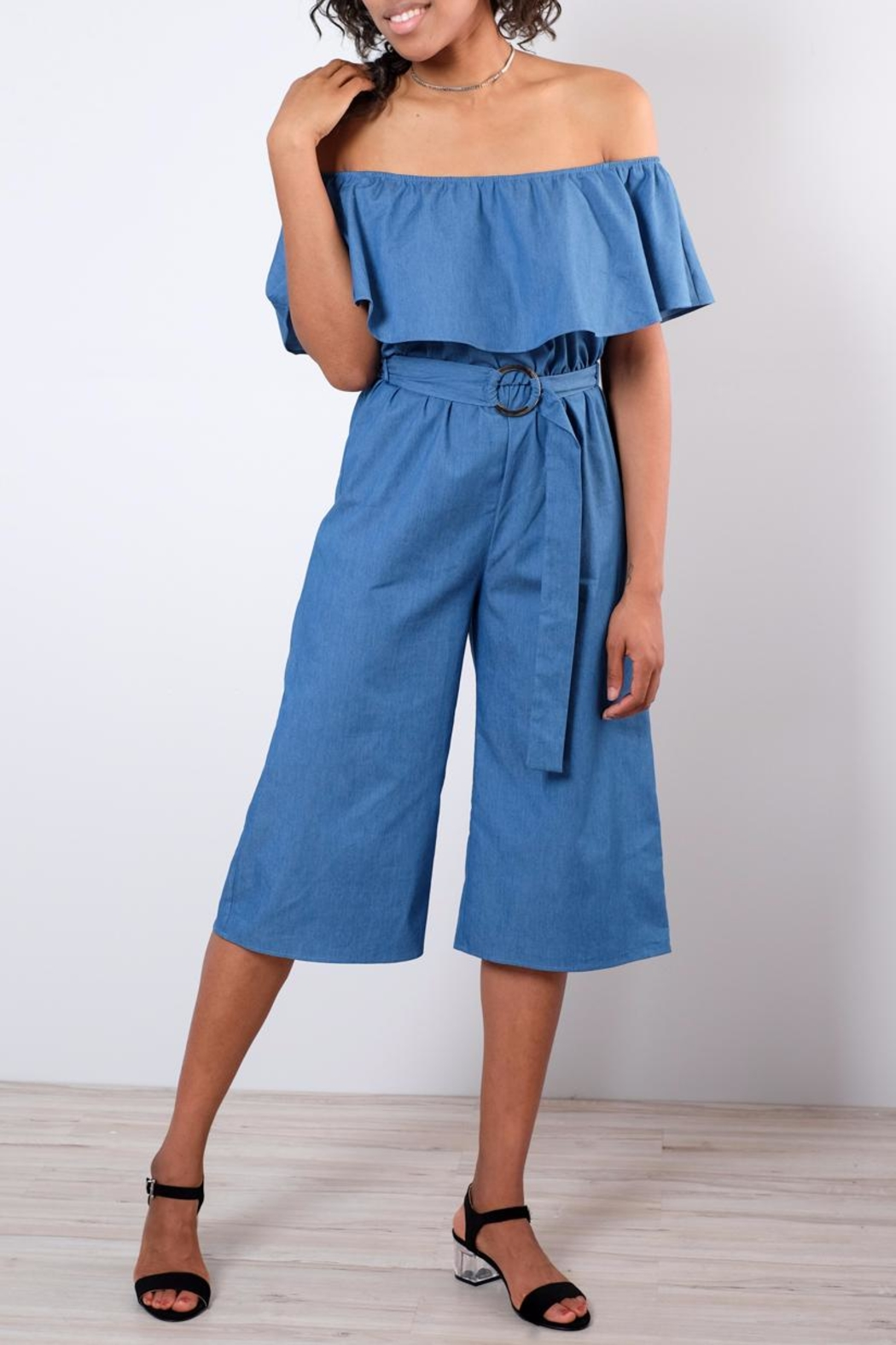 Everly Chambray Jumpsuit - Main Image