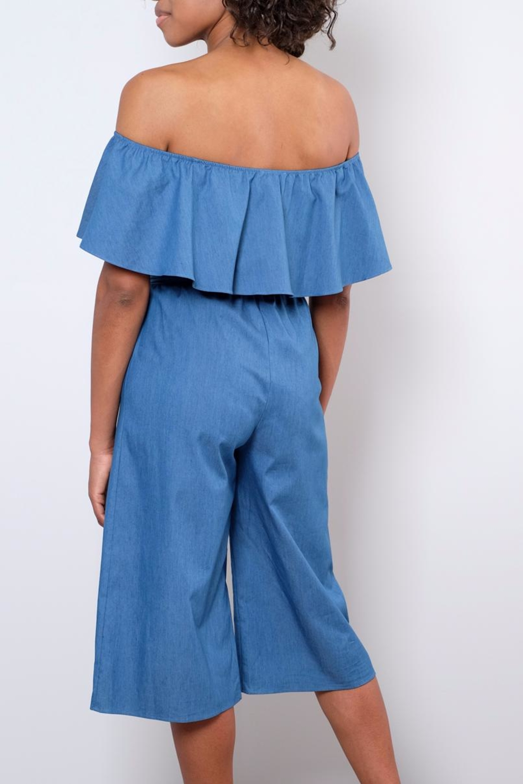 Everly Chambray Jumpsuit - Back Cropped Image