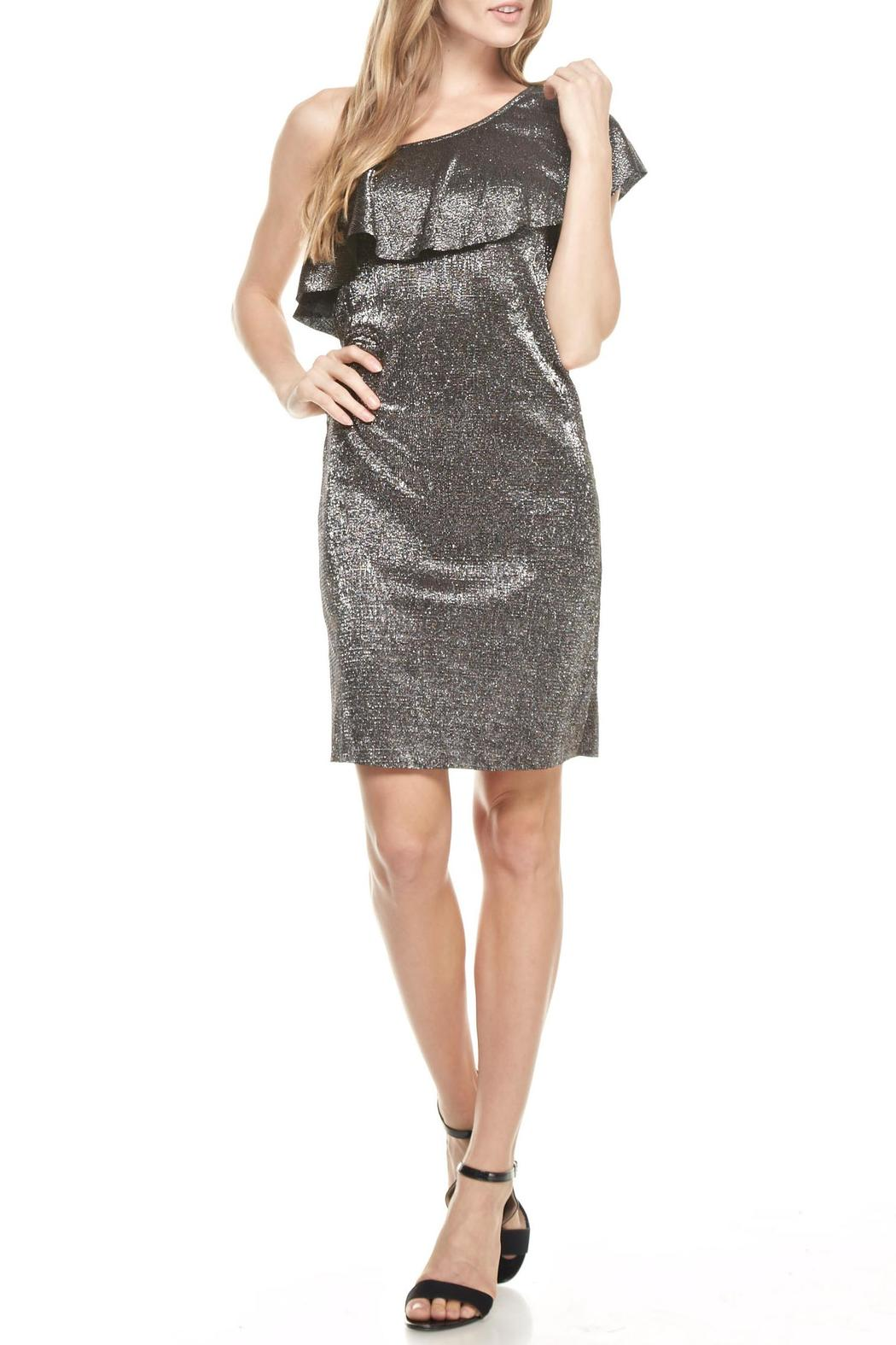Everly One Shoulder Disco Dress - Main Image