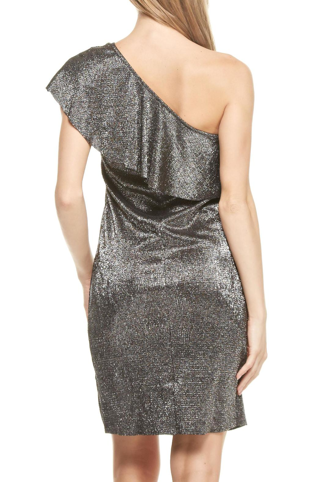Everly One Shoulder Disco Dress - Side Cropped Image