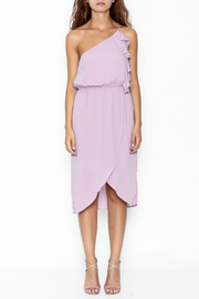 Everly One Shoulder Ruffle Dress - Front full body