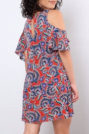 Everly Paisley Cold Shoulder Dress - Back cropped