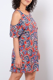Everly Paisley Cold Shoulder Dress - Side cropped
