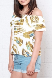 Everly Palm Off Shoulder Top - Front full body