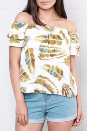 Everly Palm Off Shoulder Top - Front cropped