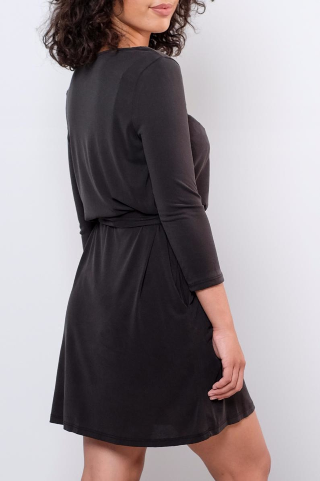 Everly Patricia Tie Waist Dress - Side Cropped Image