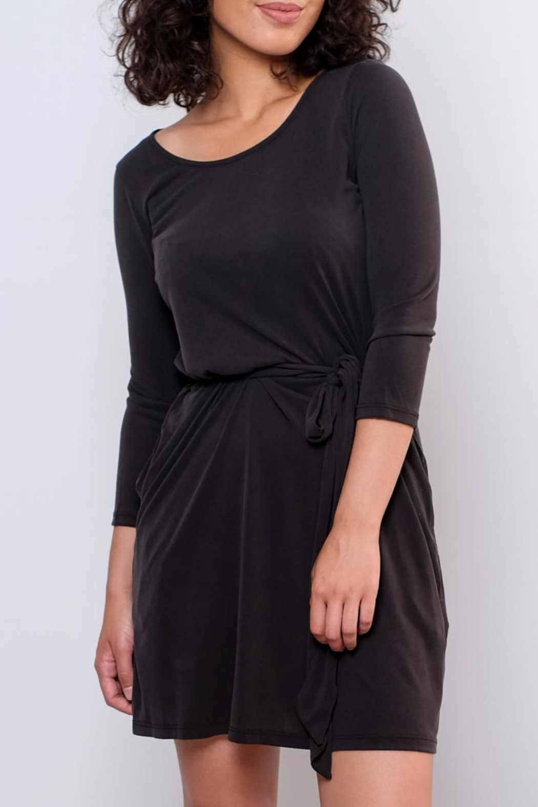 Everly Patricia Tie Waist Dress - Front Full Image