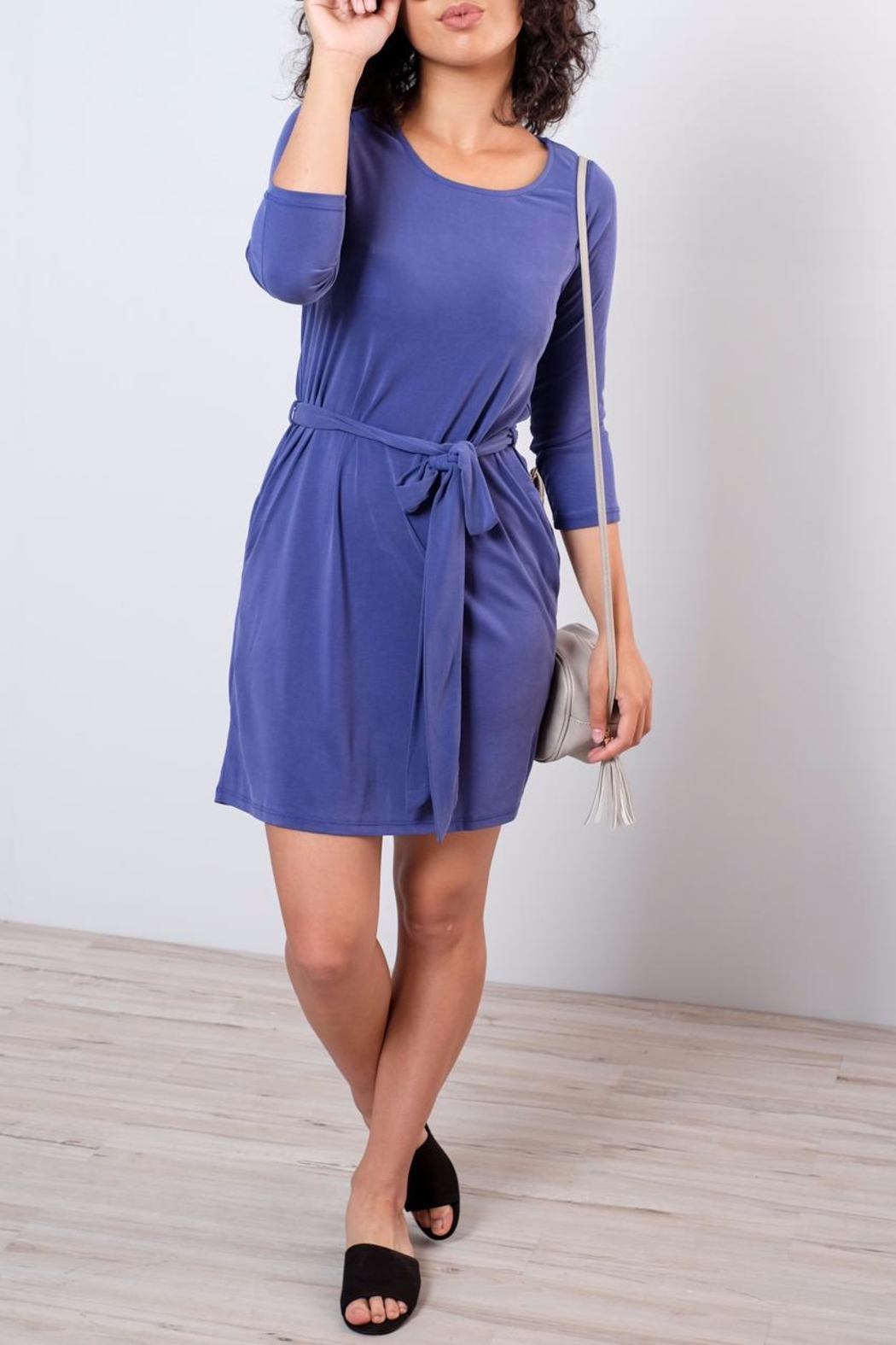 Everly Patricia Tie Waist Dress - Front Cropped Image