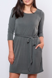 Everly Patricia Tie Waist Dress - Front full body