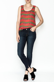 Everly Patterned Keyhole Blouse - Side cropped