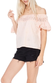 Everly Peach Off The Shoulder Top - Product Mini Image