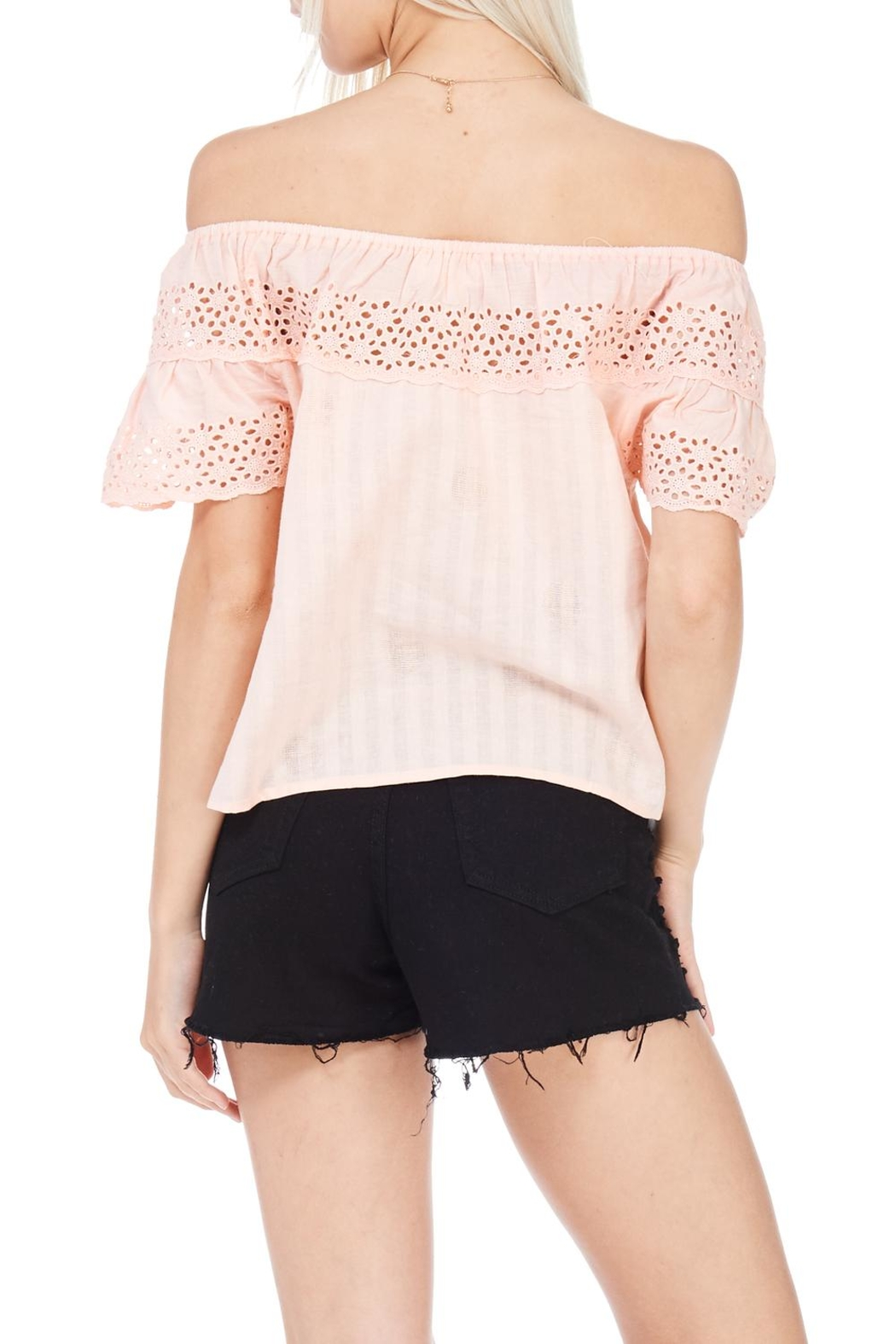 Everly Linen Blend Top - Side Cropped Image