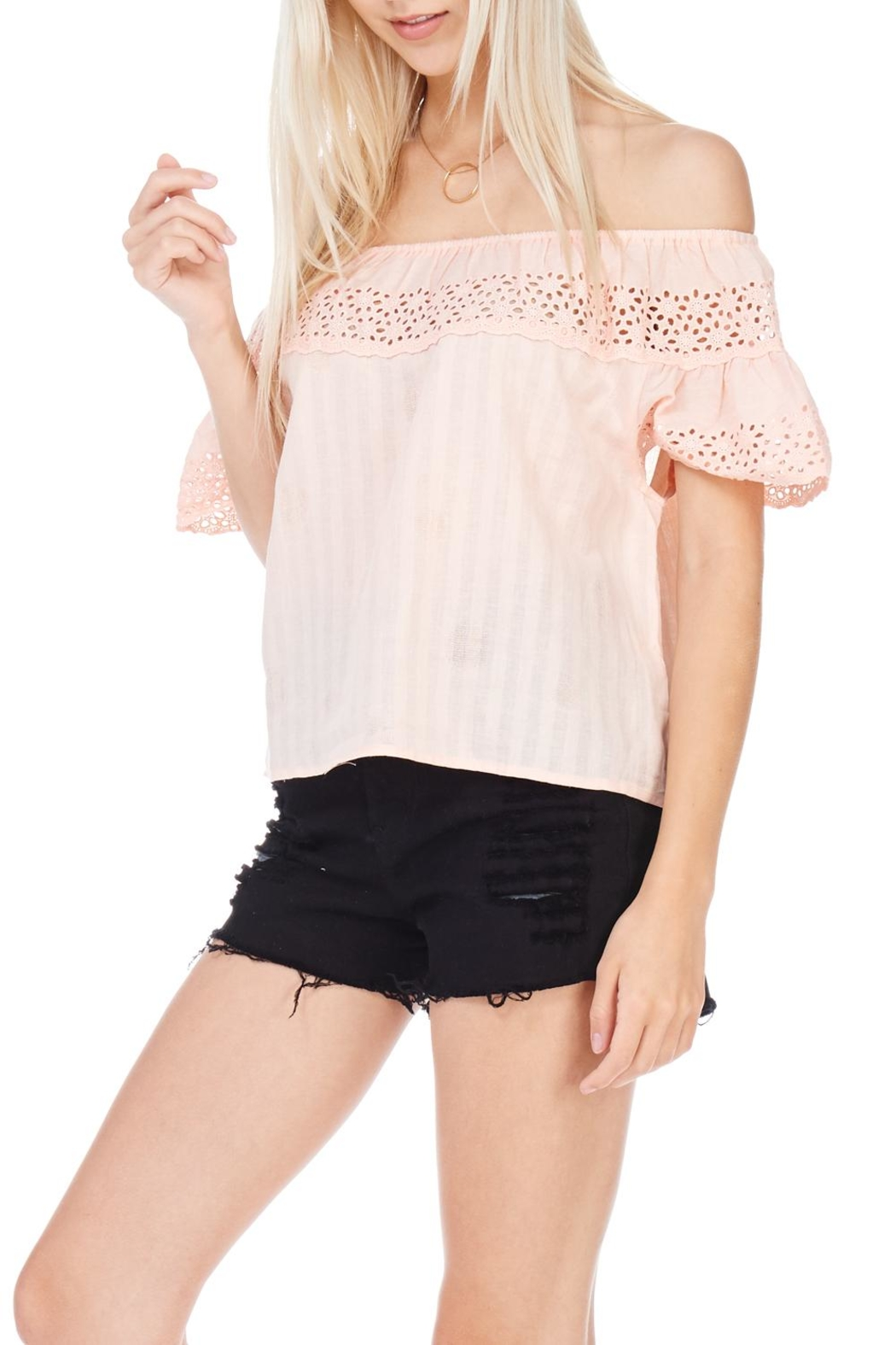 Everly Linen Blend Top - Front Full Image