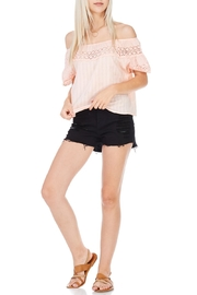 Everly Linen Blend Top - Front cropped