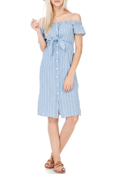 Everly Denim Off The Shoulder Dress - Product List Image