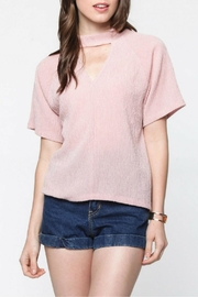 Everly Pink Choker Top - Product Mini Image