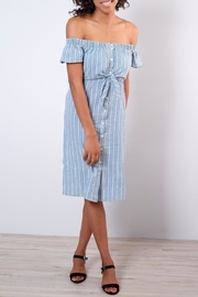 Everly Pinstripe Shirt Dress - Front cropped
