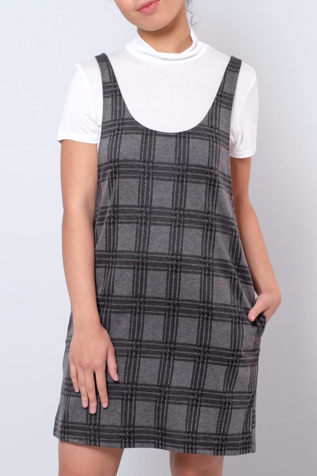 Everly Plaid Dress Set - Front Cropped Image
