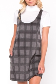 Everly Plaid Layered Dress - Front cropped