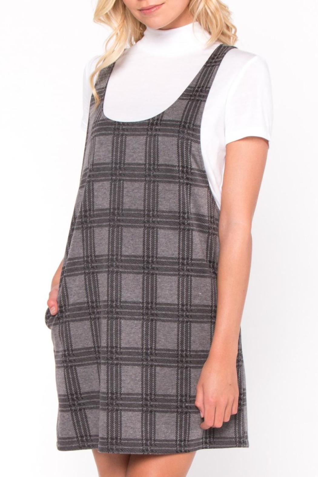 Everly Plaid Layered Dress - Front Full Image