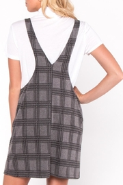 Everly Plaid Layered Dress - Side cropped