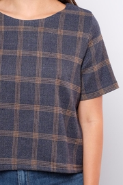 Everly Plaid Woven Top - Other