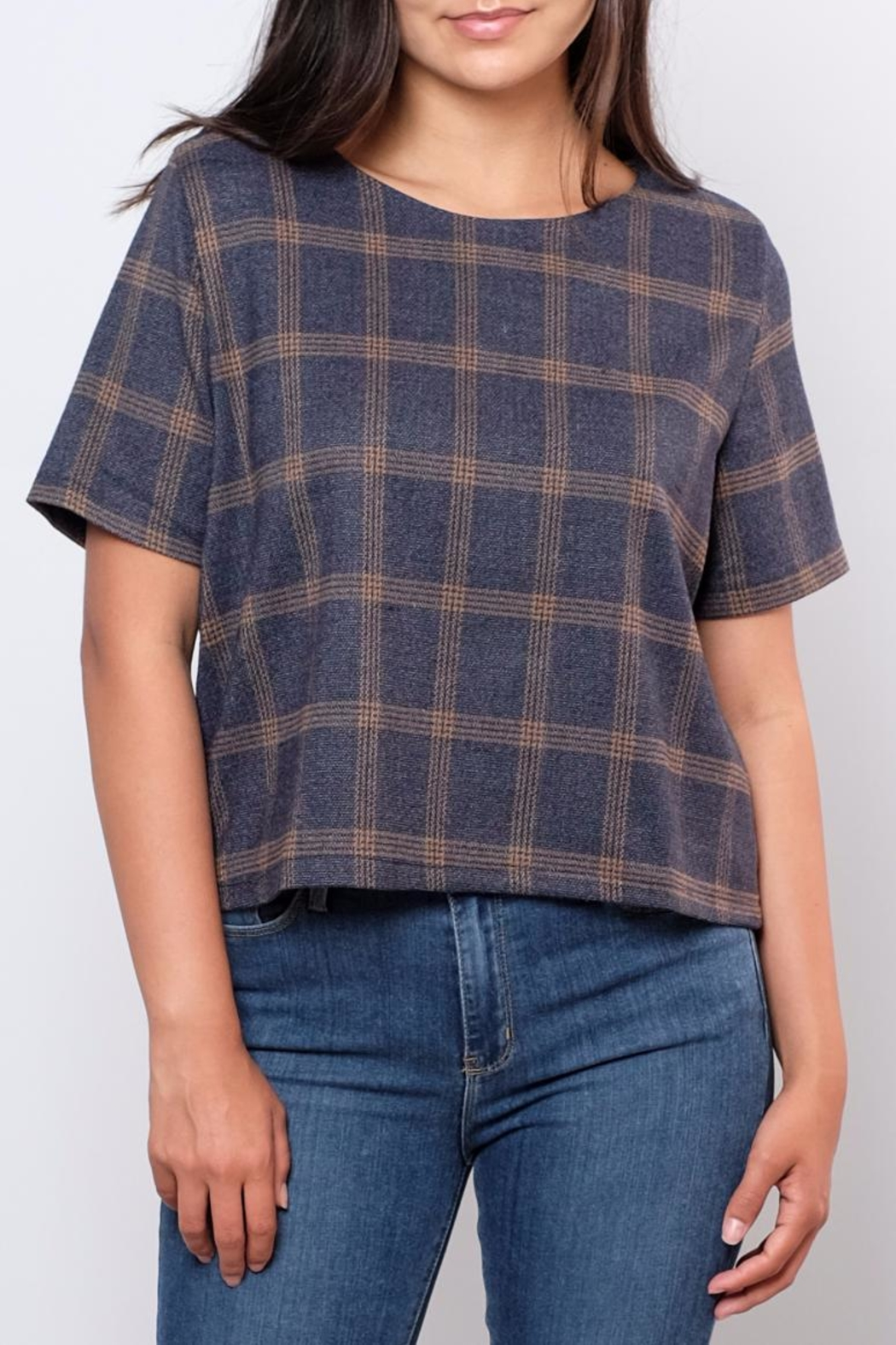 Everly Plaid Woven Top - Main Image