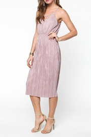 Everly Pleated Midi Dress - Front full body