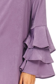 Everly Plum Silky Tiered Sleeve Dress - Other