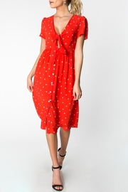 Everly Polka-Dot Midi Dress - Product Mini Image