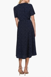 Everly Polka-Dot Wrap Dress - Back cropped