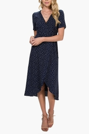Everly Polka-Dot Wrap Dress - Side cropped