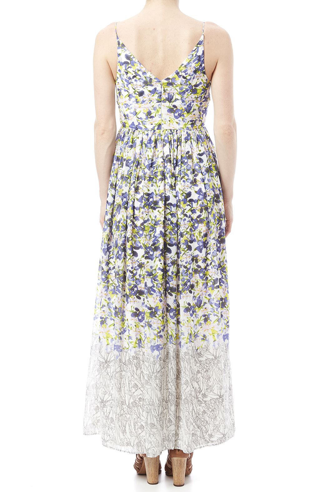 Everly Floral Print Maxi - Back Cropped Image