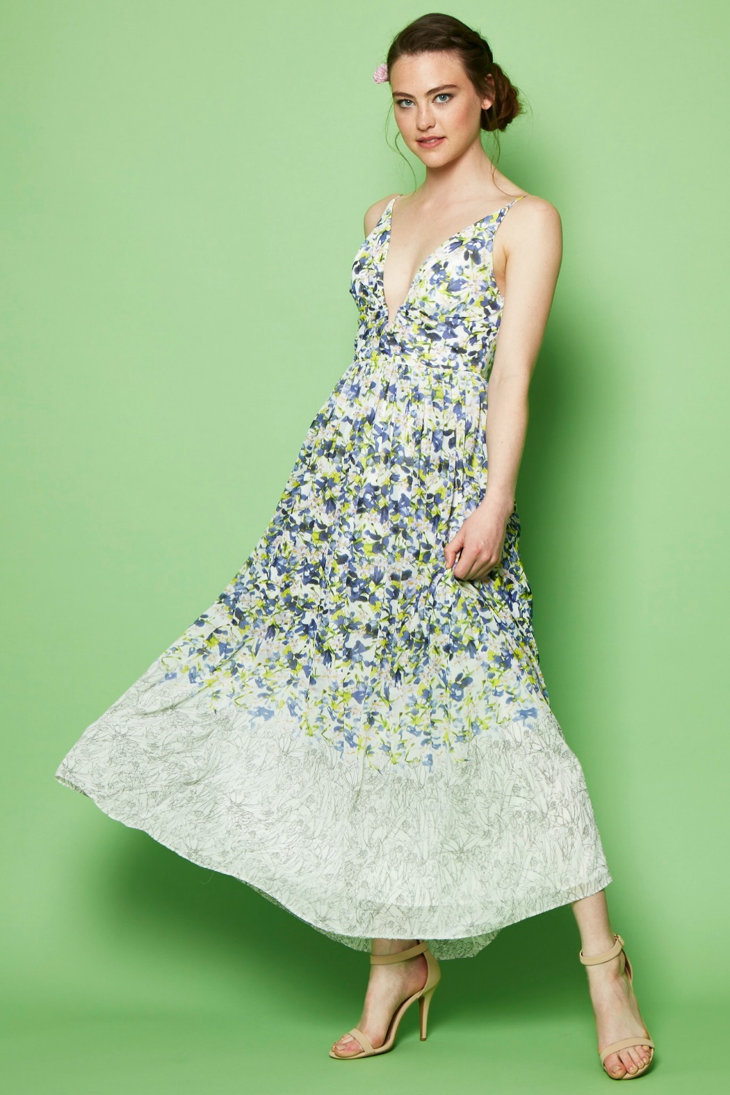 Everly Floral Print Maxi - Front Full Image